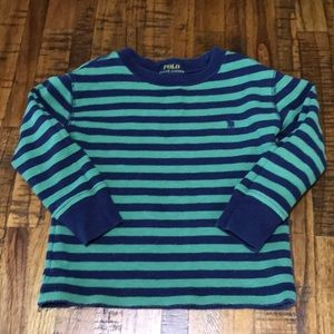 2T striped polo sweater